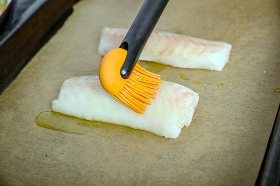 Cod Loins la cuptor cu crema de lamaie si ratatouille de iarna