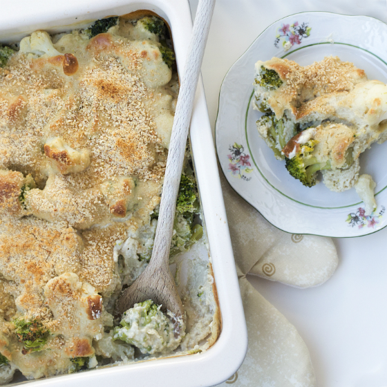 Conopida si broccoli cu sos de caju