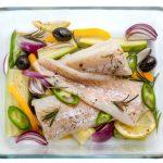 File de cod Atlantic cu legume mediteraneene la cuptor (Final)