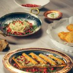 Snitel de pui cu salata calda de vinete cu rozmarin si rodie (9)