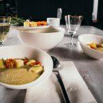 Supa crema de vinete cu rosiile coapte si crutoane cu emmental (6)